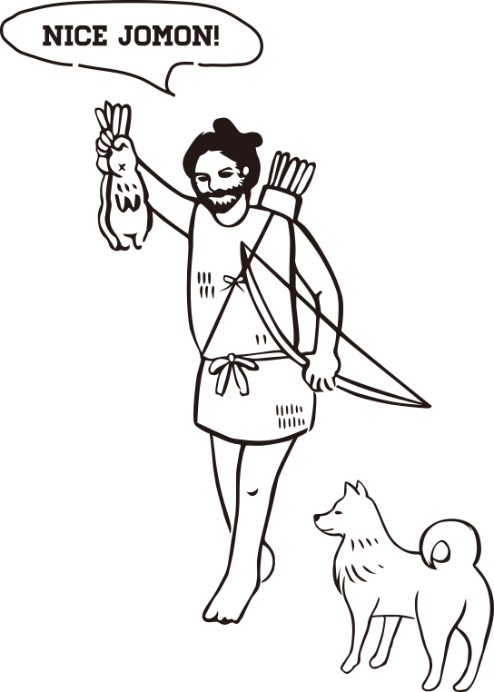 狩猟する縄文人