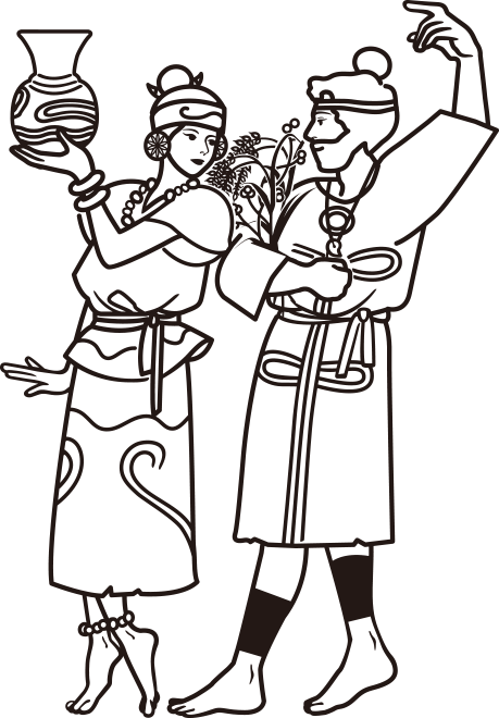 縄文時代の男女